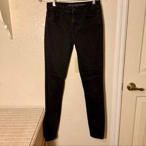 American Eagle Outfitters Hi Rise Jeggings Black 4